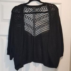 Torrid 4 Black Lace shrug cardigan